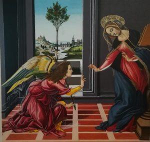 Annonciation cestello Botticelli tempera
